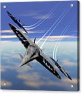 Aerobatics Over Water Acrylic Print