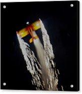 Aerobatics With Firework Acrylic Print