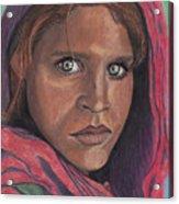 Afghan Girl Acrylic Print
