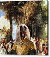 Afghan Hound-the Winch Canvas Fine Art Print Acrylic Print