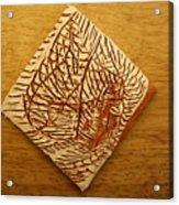 Afraid - Tile Acrylic Print