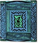 African Blue Bird Acrylic Print