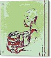 African Boy Blue Acrylic Print by Sheri Buchheit