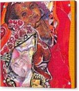 African Crown Acrylic Print