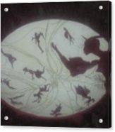 African Dance Stool Acrylic Print
