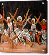 African Dancers Acrylic Print
