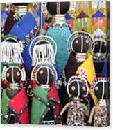 African Dolls Acrylic Print