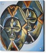 African Double Mask Acrylic Print