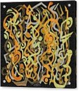 African Grass Fire Acrylic Print