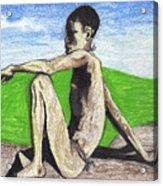 African Hunter Acrylic Print