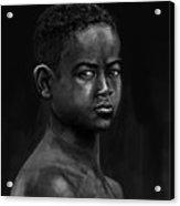 African Kid Acrylic Print