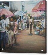 African Market Acrylic Print