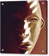 African Mask With Sunlight  Acrylic Print