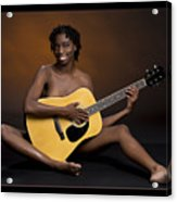 African Nude And Guitar 1184.02 Acrylic Print