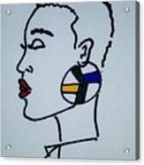 African Queen Acrylic Print