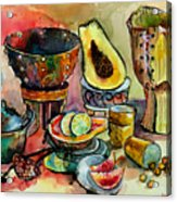 African Still Life Acrylic Print