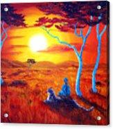 African Sunset Meditation Acrylic Print