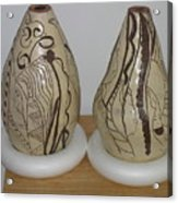 African Terracotta Gourds - View Two Acrylic Print