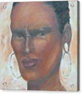 African Warrior Acrylic Print