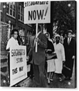 Africans American Protest School Acrylic Print