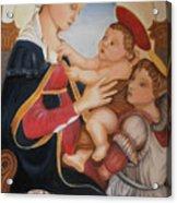 after Botticelli Madonna con il Bambino e un Angelo Acrylic Print