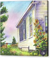 After School Activities At Monhegan School House Acrylic Print
