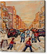 After School Hockey Game Acrylic Print