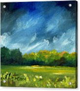 After Spring Rain Acrylic Print by Linda L Martin