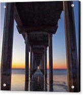 After Sunset At Scripps Pier Acrylic Print