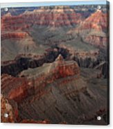 After Sunset Colors In The Grand Canyon Acrylic Print by Pierre Leclerc Photography