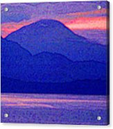 After Sunset Mountains 5 Pd Acrylic Print