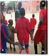 After The Game - Goree Boys Acrylic Print by Eugene Simon