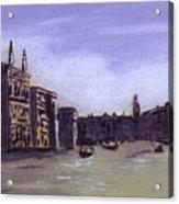 After The Grand Canal From Campo San Vio Near The Rialto Bridge Acrylic Print