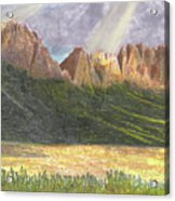 After The Monsoon Organ Mountains Acrylic Print