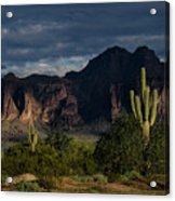 After The Rain In The Superstitions  Acrylic Print