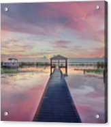After The Rain Sunrise Painting Acrylic Print
