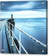After The Shower Over Whitby Pier Acrylic Print