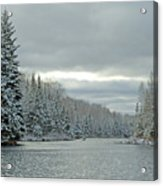 After The Snowstorm Powder Acrylic Print