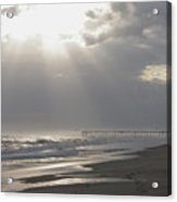 After The Storm - Frisco Pier - Outer Banks Nc Acrylic Print