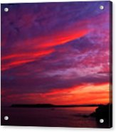 After The Storm Sunset Acrylic Print