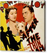 After The Thin Man, Myrna Loy, Asta Acrylic Print by Everett