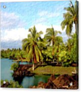 Afternoon At Mauna Lani Hawaii Acrylic Print