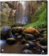 Afternoon Delight At Upper Bridal Veil Falls Acrylic Print