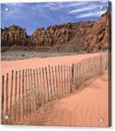 Afternoon In Snow Canyon Acrylic Print