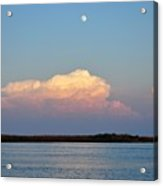Afternoon Moon - Apalachicola Bay Acrylic Print