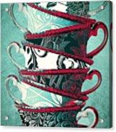 Afternoon Tea Aqua Acrylic Print