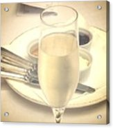 Afternoon Tea With Champagne Acrylic Print