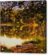 Afternoon View Argyle Lake Illinois Acrylic Print