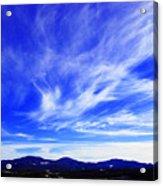 Afton Sky And Mountains I Acrylic Print