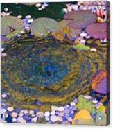 Agape Gardens Autumn Waterfeature Acrylic Print